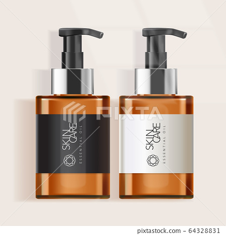 Vector Tinted Bottle for Skincare / Healthcare / Haircare Products 64328831
