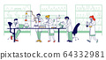 Chemistry Scientists, Professional People Chemists or Doctors Research Medical Experiment in Scientific Laboratory 64332981