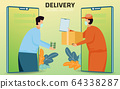 Online shopping and Online delivery service 64338287