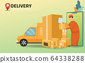 Online shopping and Online delivery service 64338288