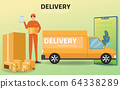 Online shopping and Online delivery service 64338289