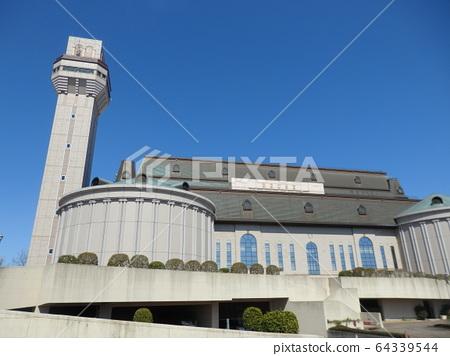 Incineration plant with observation deck 64339544