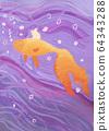 Children drawing of goldfish view 64343288