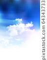 Sky watercolor rainy season background 64343733