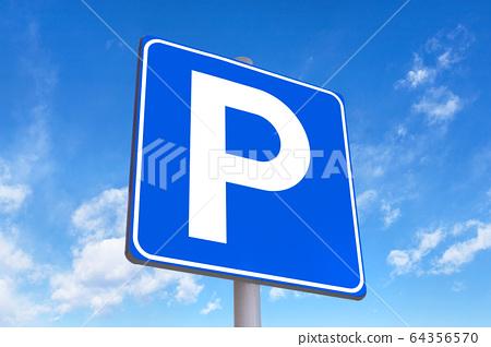 Parking traffic sign 64356570