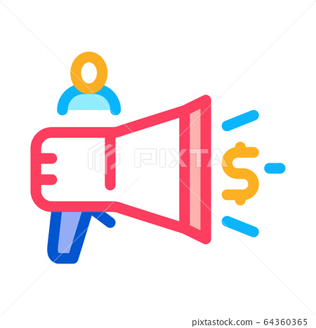 loudspeaker announcement of money icon vector stock illustration 64360365 pixta pixta