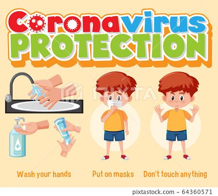 Clean hands protect corona virus 64360571