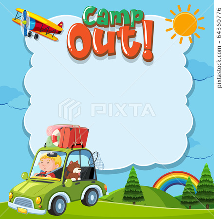Background template with camping theme 64360776