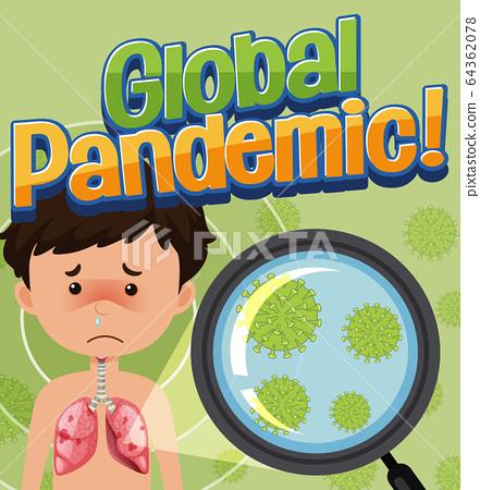 Corona virus global pandamic 64362078