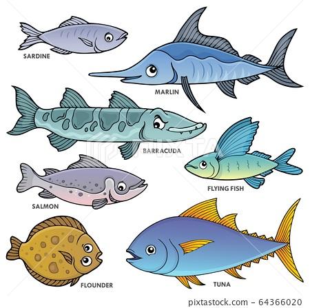 Various fishes theme set 1 64366020