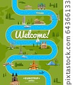 Welcome to Europe poster with famous attractions 64366133