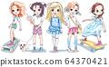 Vector baby girl 64370421