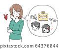 一位母親擔心教育費用的插圖 64376844