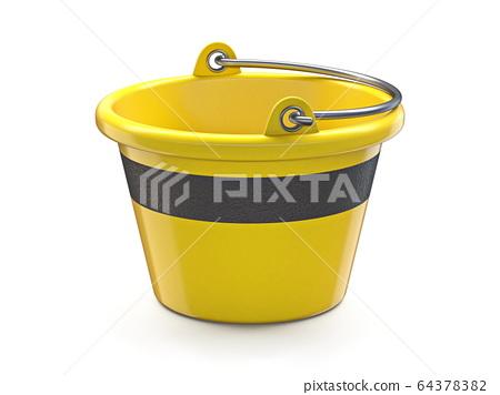 Yellow mortar bucket 3D 64378382
