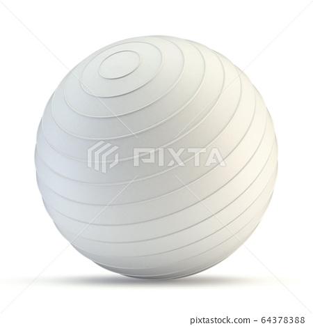 White fitness ball 3D 64378388