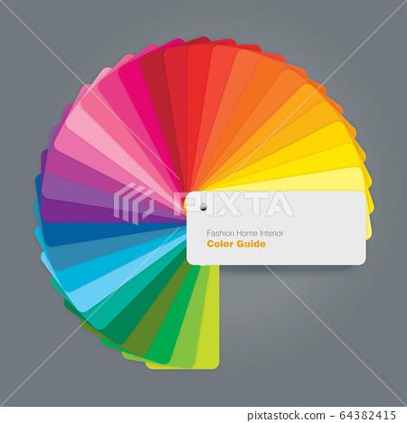 Circular color palette guide for fashion interior 64382415
