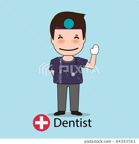 Dentist, Cartoon character Dentist Design, Medical 64383561