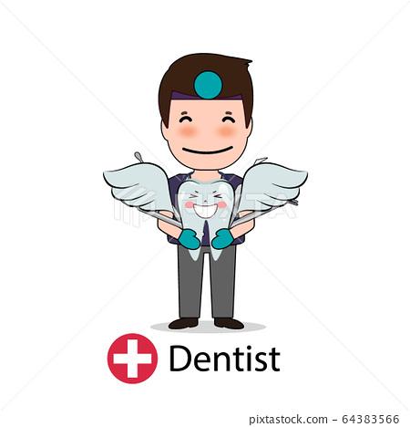 Dentist, Cartoon character Dentist Design, Medical 64383566