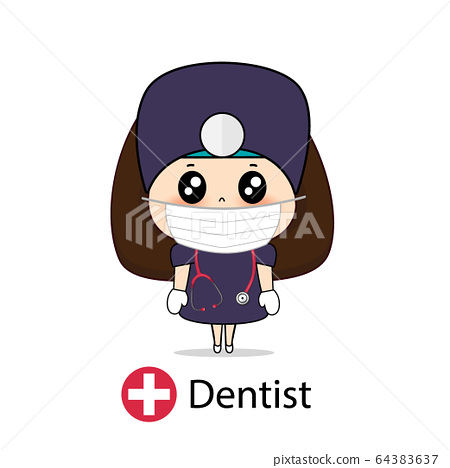 Dentist, Cartoon character Dentist Design, Medical 64383637