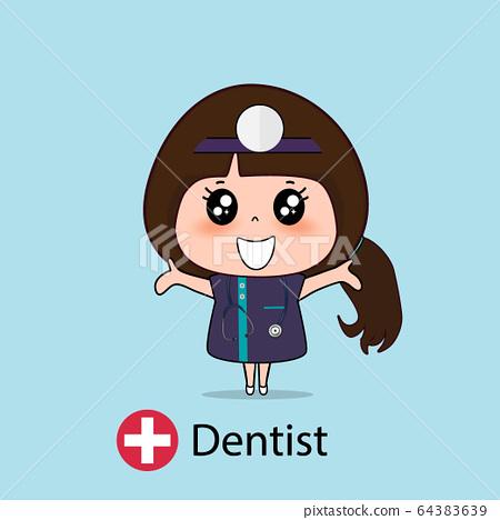 Dentist, Cartoon character Dentist Design, Medical 64383639