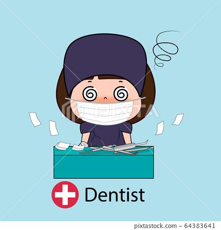 Dentist, Cartoon character Dentist Design, Medical 64383641