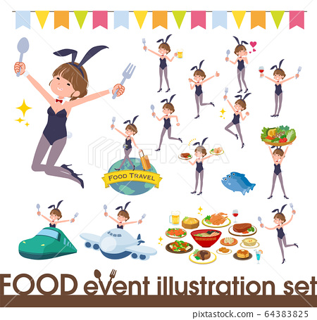 flat type bunny suit women_food festival 64383825