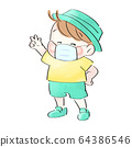 孩子戴著口罩(心情很好) 64386546