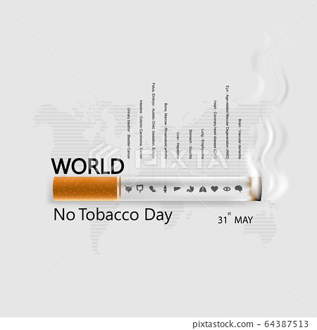 World No Tobacco Day infographic background 64387513