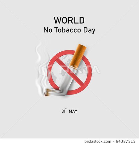World No Tobacco Day infographic background 64387515