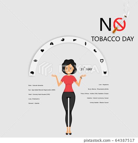 Pretty woman and Quit Tobacco vector logo design 64387517