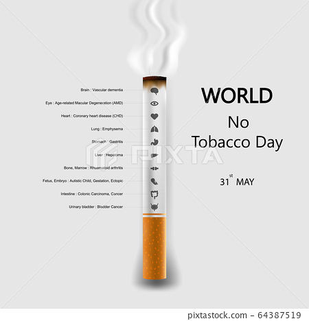 World No Tobacco Day infographic background 64387519