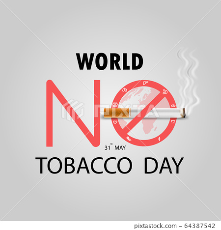 World No Tobacco Day infographic background 64387542