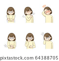 Illness symptom set 2 (chills, node pain, fever, abdominal pain, nausea, headache) Girl 64388705