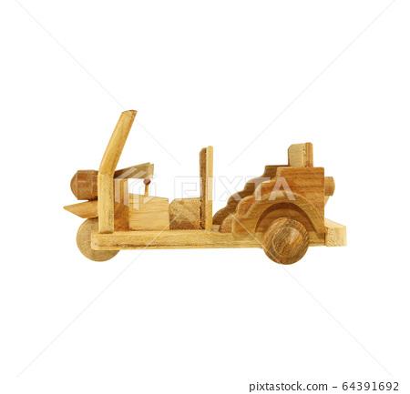 Tuk Tuk wooden toy model isolated on white 64391692