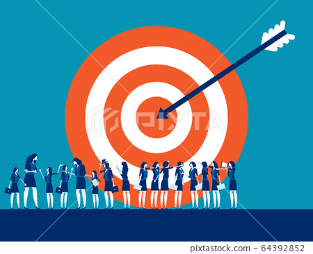 Target customer business for marketing. People 64392852