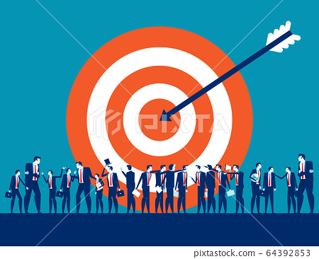 Target customer business for marketing. People 64392853