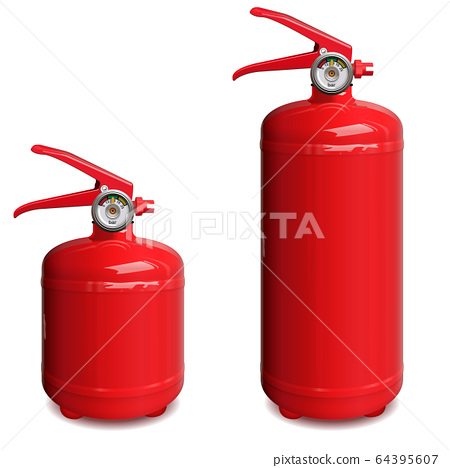 Vector Red Fire Extinguisher 64395607