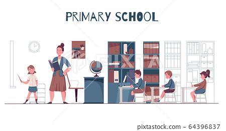 Primary School Classroom 64396837