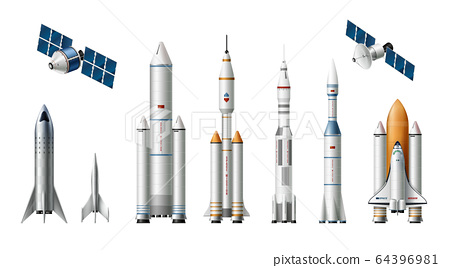 Rocket Spacecrafts Realistic Set 64396981