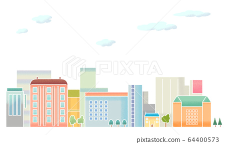 Illustration of cityscape (seamless) 64400573