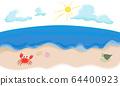 Image illustration of the summer sea 64400923
