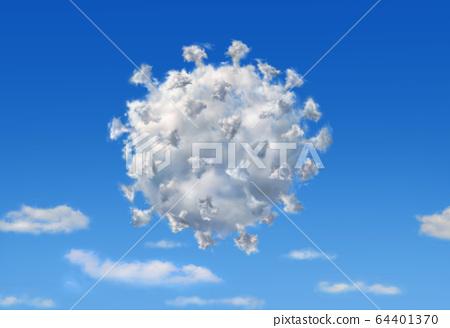 Fluffy cloud with the shape of Coronavirus 64401370