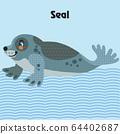 Vector cartoon seal 64402687