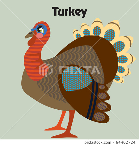 Vector cartoon turkey 64402724