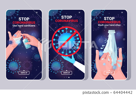 set basic protective measures against coronavirus protect yourself from 2019-nCoV healthcare concept 64404442