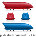 bobsleigh sled winter sport olympic games vector 64405332