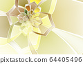 Abstract stain glass flower pattern. 64405496