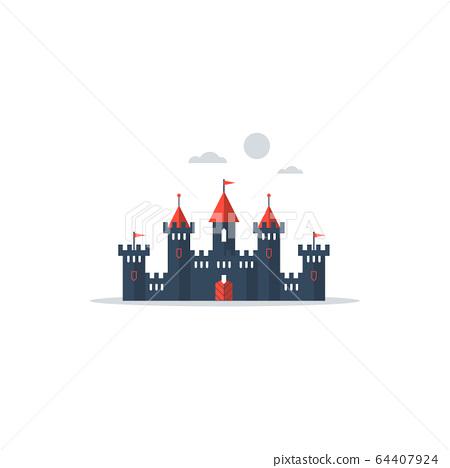Big fantasy castle 64407924
