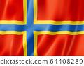 Orkney County flag, UK 64408289