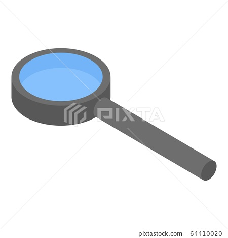 Magnifying glass icon, isometric style 64410020